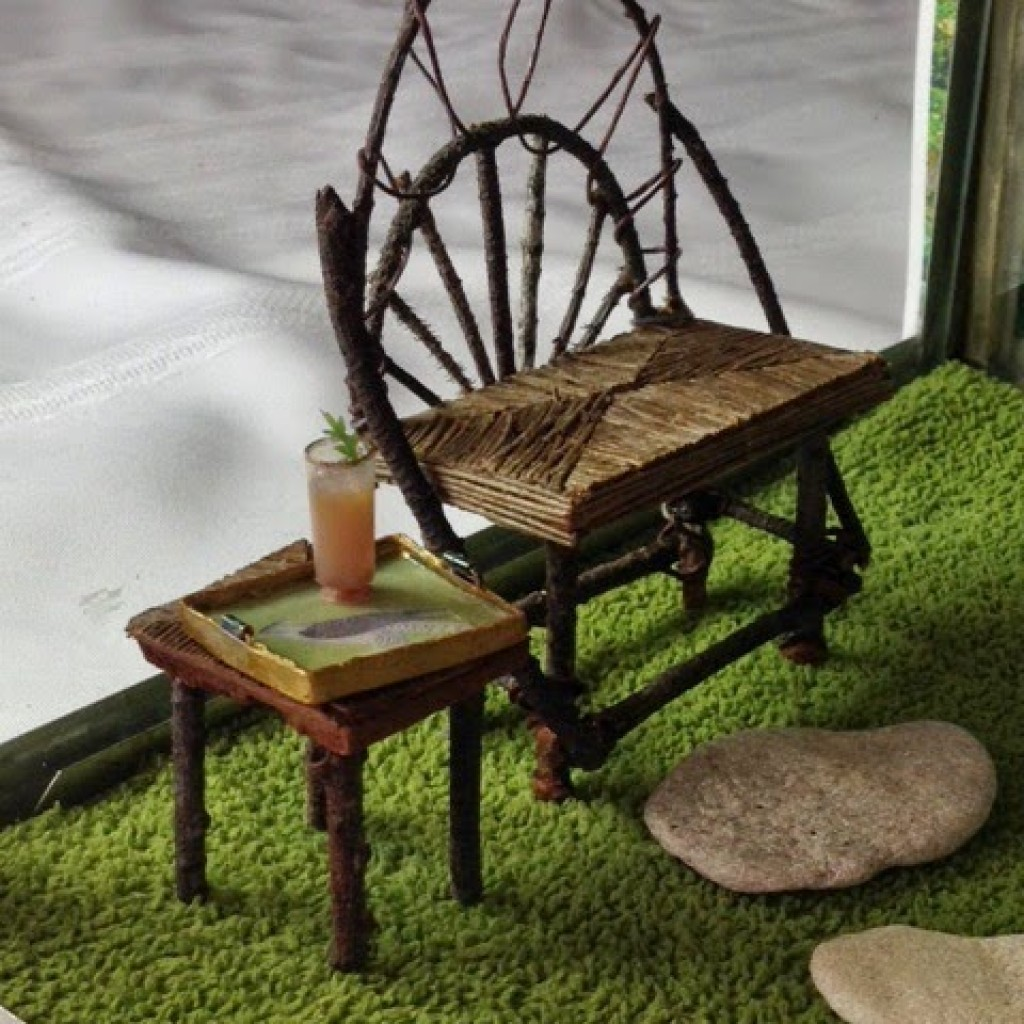 Phenomenal How To Make A Miniature Rustic Bench Joanna Campbell Ibusinesslaw Wood Chair Design Ideas Ibusinesslaworg